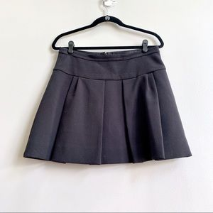 J. Crew Black Pleated Mini Skirt